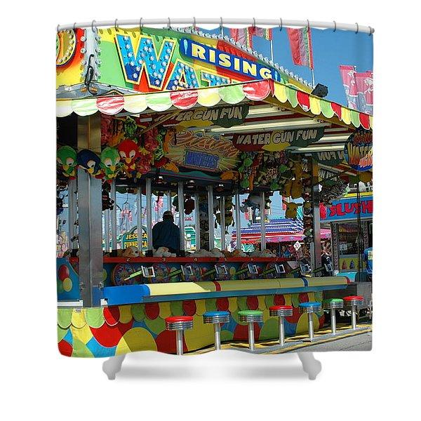 Summer Carnival Festival Fun Fair Shooting Gallery - Carnival State Fair Stands Shower Curtain