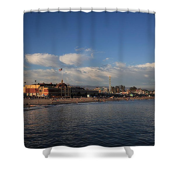 Summer Evenings In Santa Cruz Shower Curtain