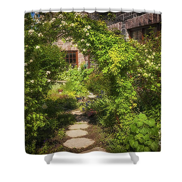 Summer Garden And Path Shower Curtain