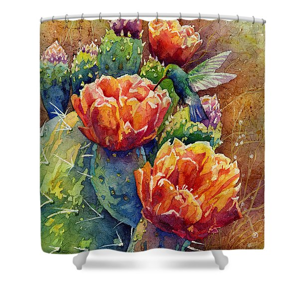 Summer Hummer Shower Curtain