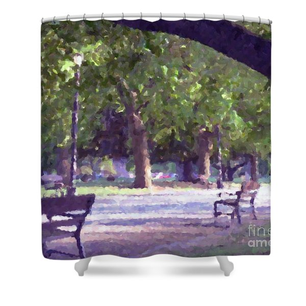 Summer In The Park Shower Curtain
