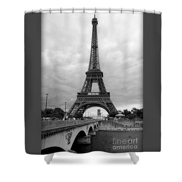 Summer Storm Over The Eiffel Tower Shower Curtain