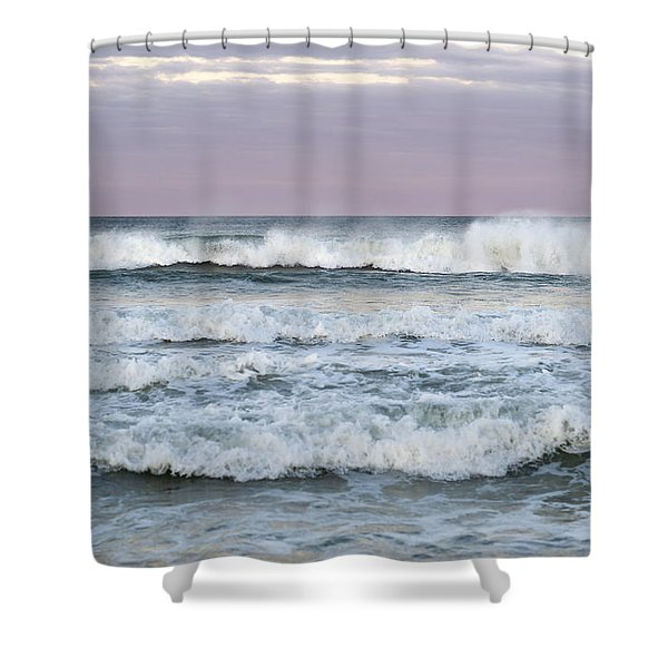 Summer Waves Seaside New Jersey Shower Curtain