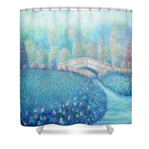 Shower Curtain featuring the painting Summertime Blues by Lynn Buettner