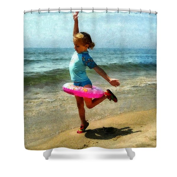 Summertime Girl Shower Curtain