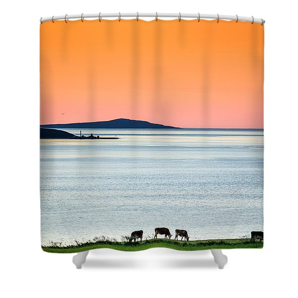 Summertime In Iceland With The Midnight Shower Curtain