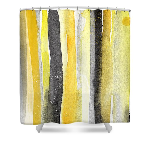 Sun And Shadows- Abstract Painting Shower Curtain
