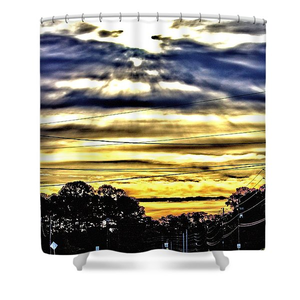 Sun Burst Shower Curtain