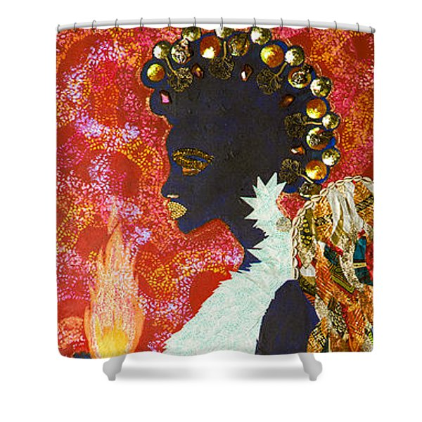Sun Guardian - The Keeper Of The Universe Shower Curtain