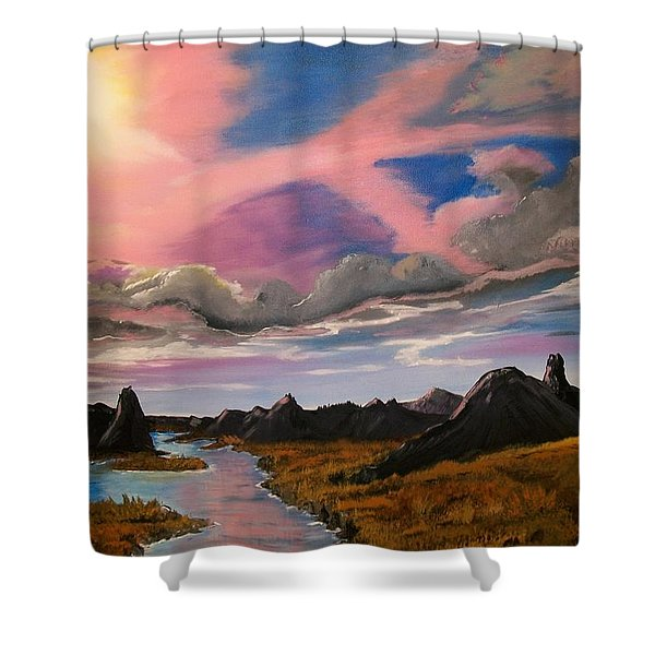 Arizona Sunrise  Shower Curtain