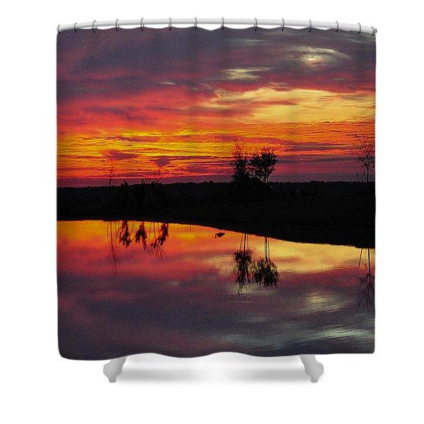 Sun Set At Cowen Creek Shower Curtain