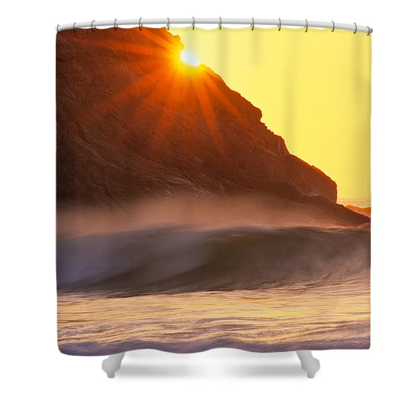 Sun Star Singing Beach Shower Curtain