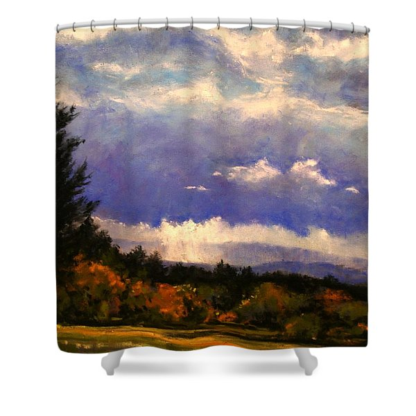 Sunburst At Ridgefield Refuge Shower Curtain