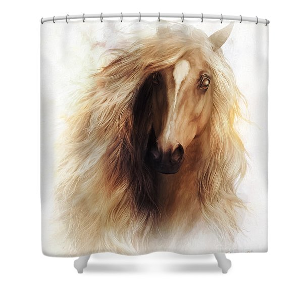 Sundance Horse Portrait Shower Curtain
