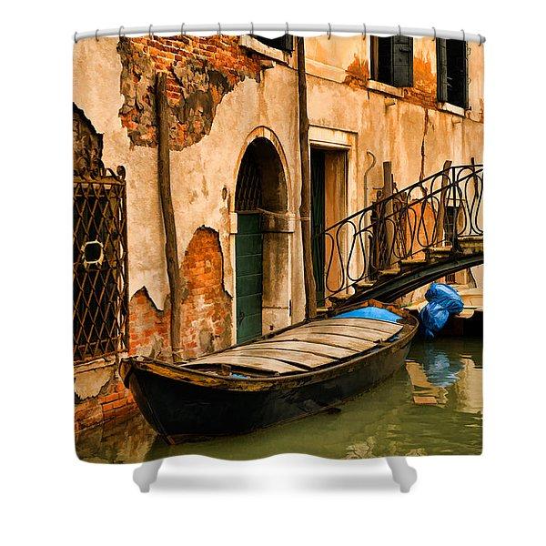 Sunday In Venice Shower Curtain
