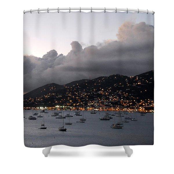 Sundown On St. Thomas Shower Curtain