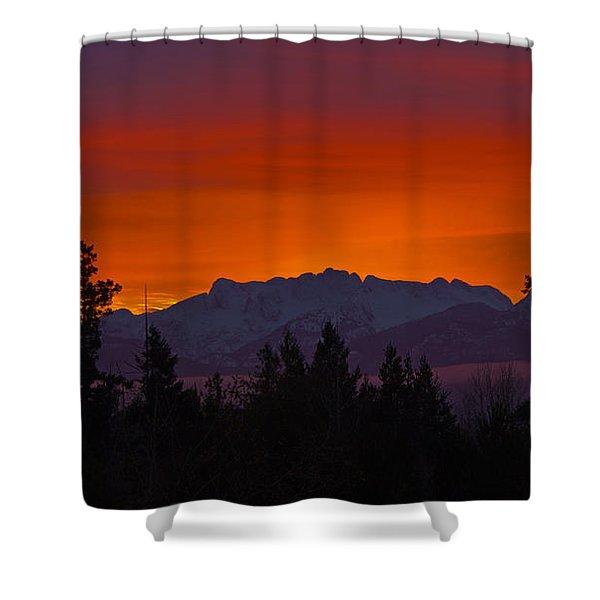 Shower Curtain featuring the photograph Sundown by Randy Hall