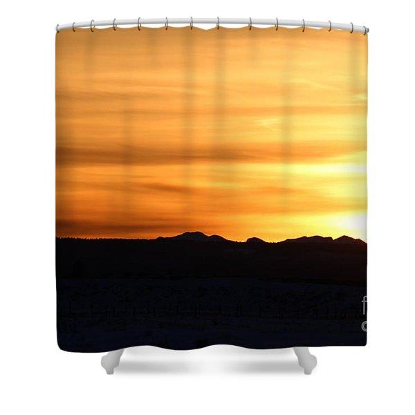 Sundre Sunset Shower Curtain