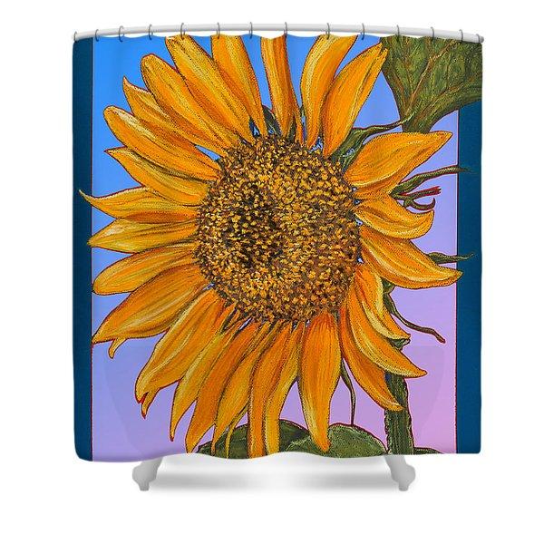 Da154 Sunflower By Daniel Adams Shower Curtain