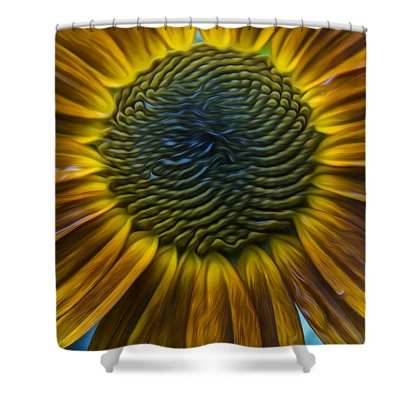 Sunflower In Rain Shower Curtain
