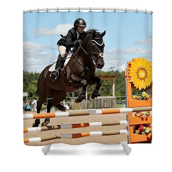 Sunflower Jumper Shower Curtain