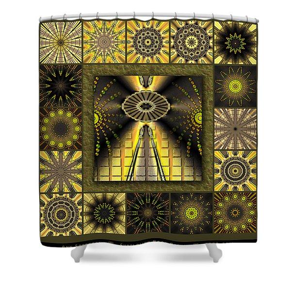 Sunflower Moon Redux Shower Curtain