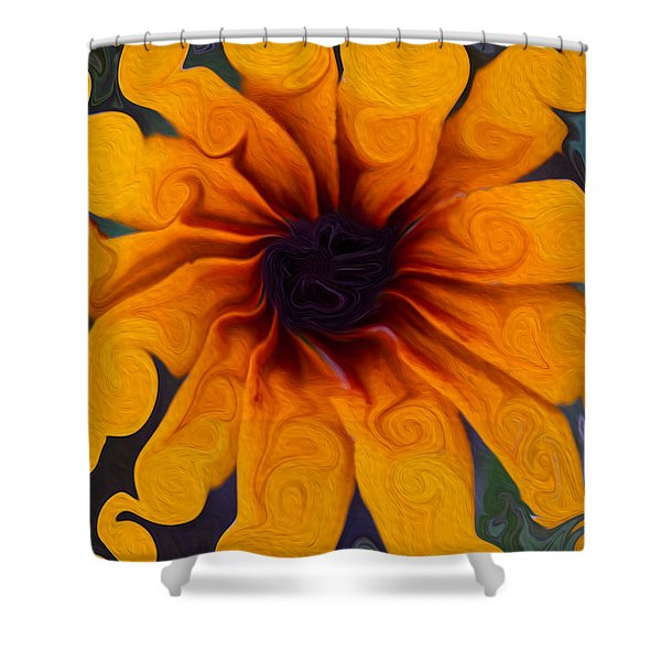 Sunflowers On Psychadelics Shower Curtain