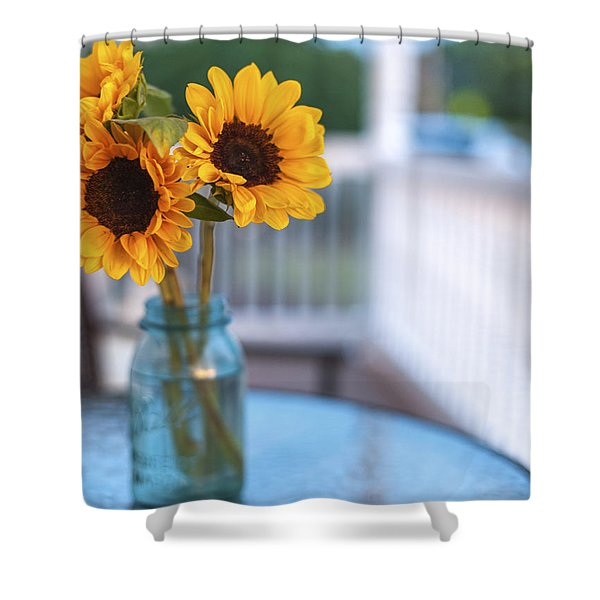 Sunflowers On The Porch Shower Curtain