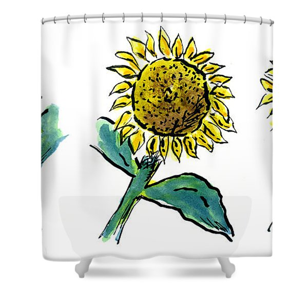 Sunflowers Trio Shower Curtain