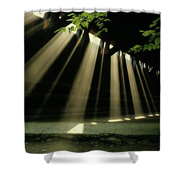 Sunlight Rays Coming Through Roof Shower Curtain