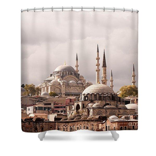 Sunlit Domes Shower Curtain