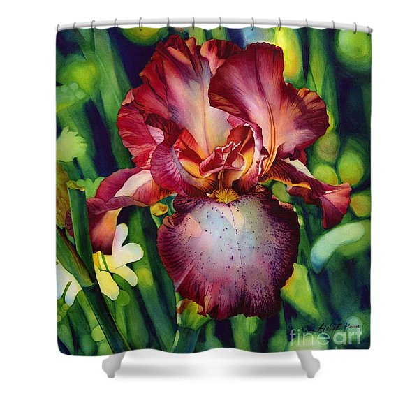 Sunlit Iris Shower Curtain