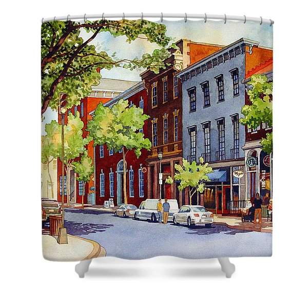 Sunny Day Cafe Shower Curtain