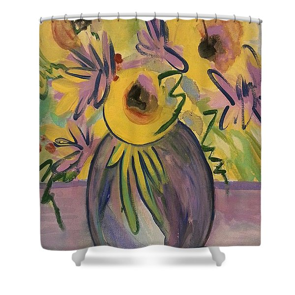 Sunny Floral Shower Curtain