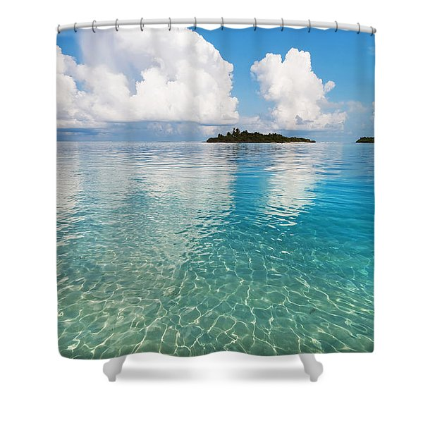 Sunny Invitation For  You. Maldives Shower Curtain