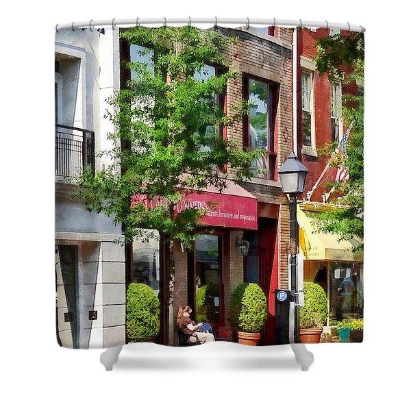 Alexandria Va - Sunny Morning Shower Curtain