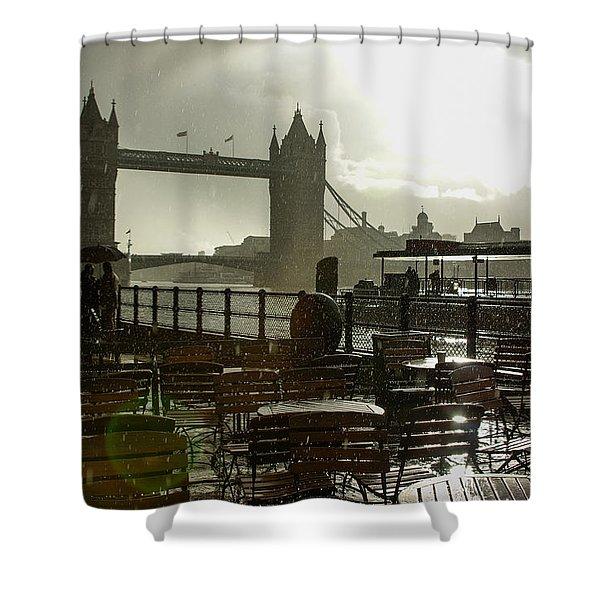 Sunny Rainstorm In London England Shower Curtain