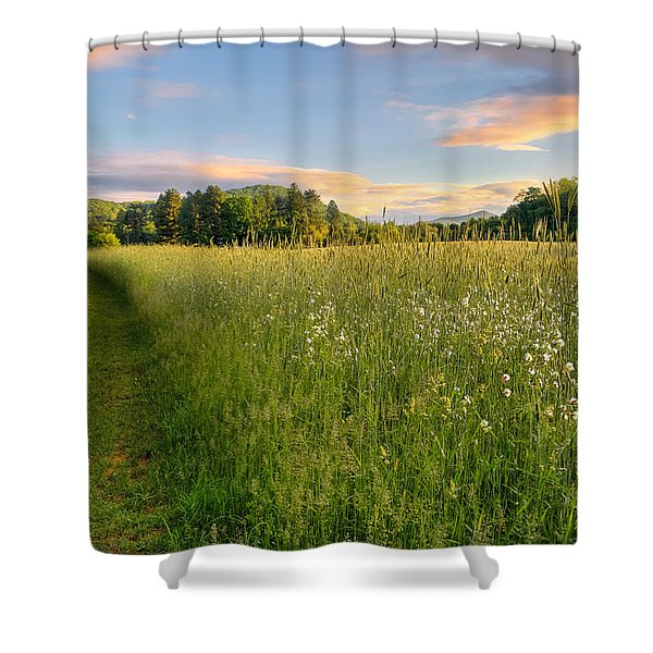 Sunny Valley Sunrise Shower Curtain