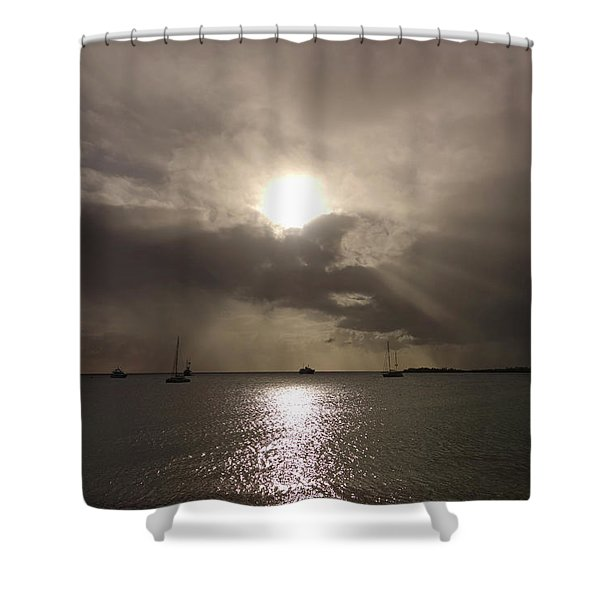 Sunrays Over Simpson Bay Shower Curtain
