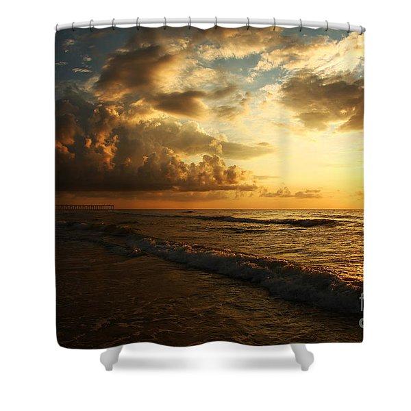Sunrise - Rich Beauty Shower Curtain