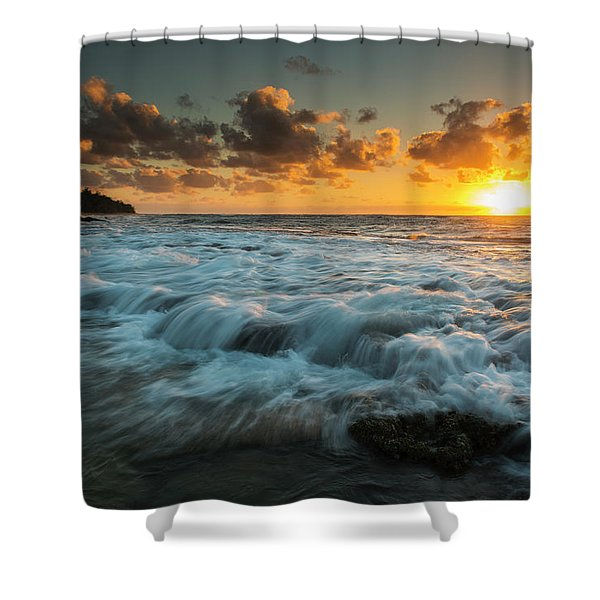 Sunrise And Surf On The East Coast Shower Curtain