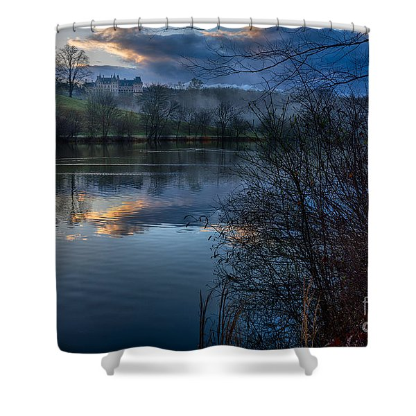 Sunrise At  Biltmore Estate Shower Curtain