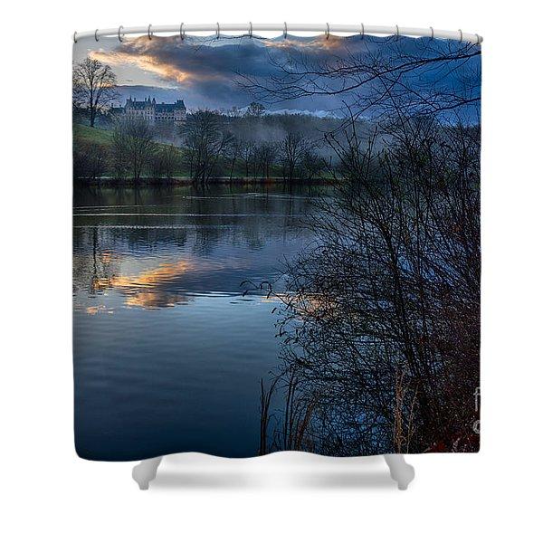 Sunrise At  Biltmore Estate Shower Curtain