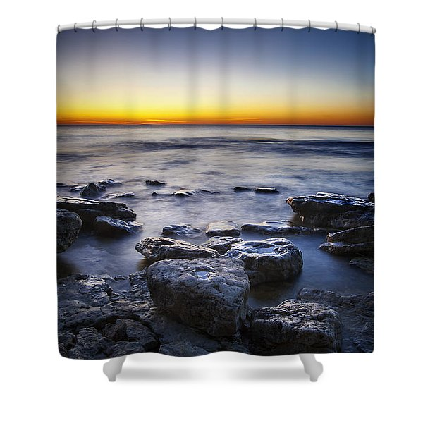 Sunrise At Cave Point Shower Curtain