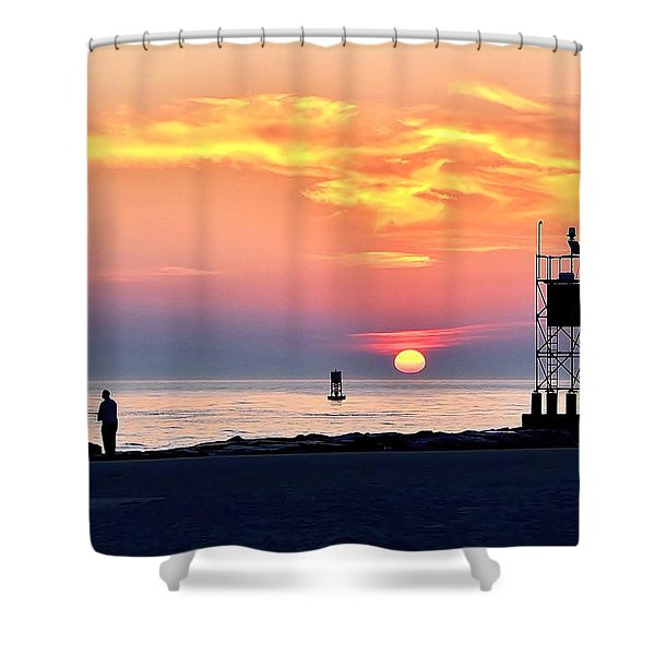 Sunrise At Indian River Inlet Shower Curtain