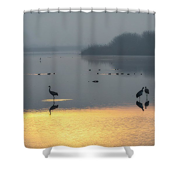 Sunrise Over The Hula Valley Israel 1 Shower Curtain