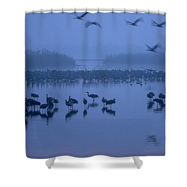 Sunrise Over The Hula Valley Israel 4 Shower Curtain