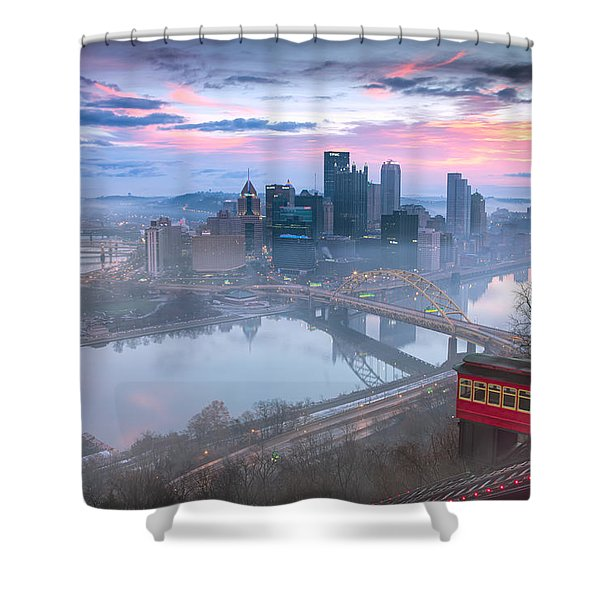 Pittsburgh Fall Day Shower Curtain