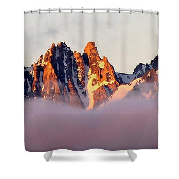Sunrise On An Island In The Sky Shower Curtain