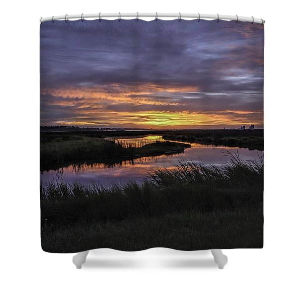 Sunrise On Lake Shelby Shower Curtain